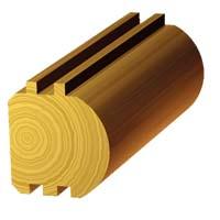 5 1/2 x 5 1/2 D-Shape Log