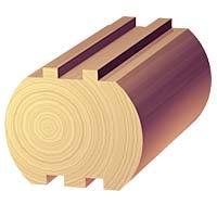 7 1/2 x 7 1/2 Double Round Log
