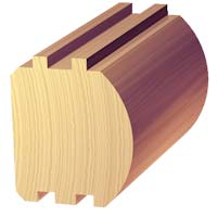7 1/2 x 7 1/2 D-Shape Log