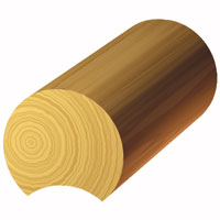 12-inch Swedish Coped Log