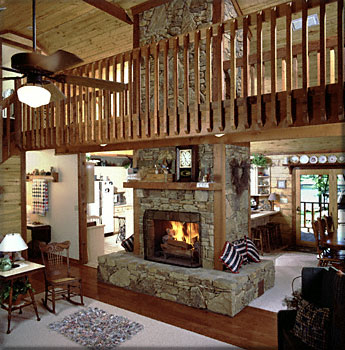 Caddo with loft satterwhite log home pictures.